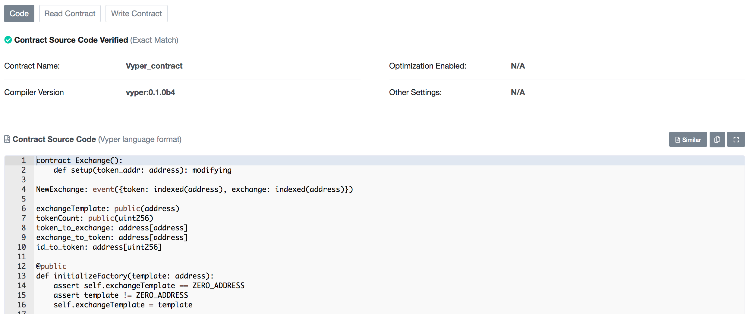 Etherscan-Verified Code