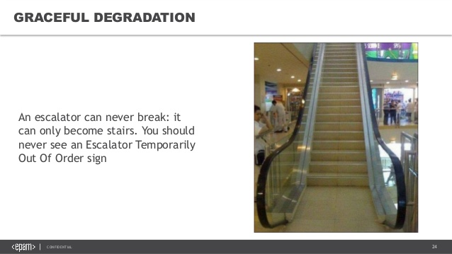 Escalators can only become stairs