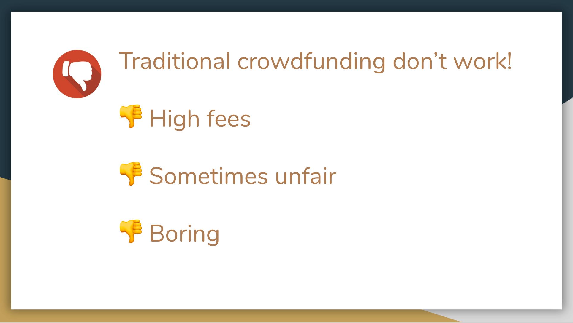 Crowdfunding is boring