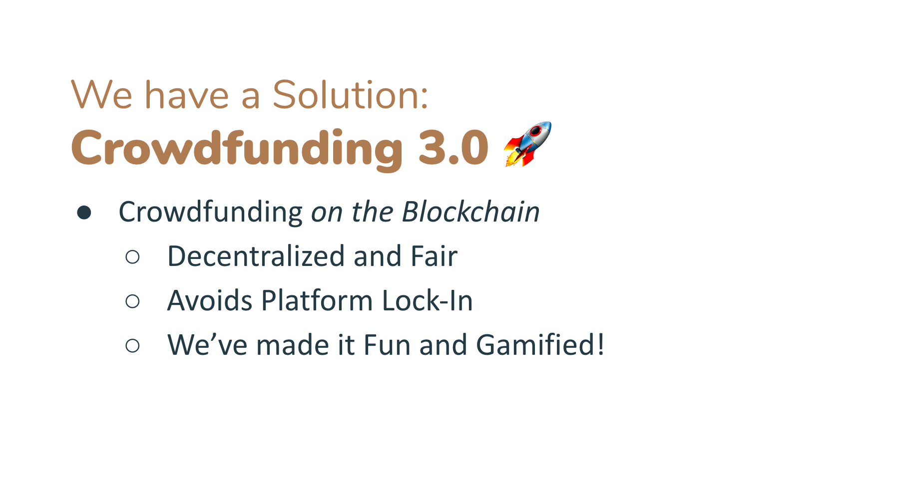 Crowdfunding can be better